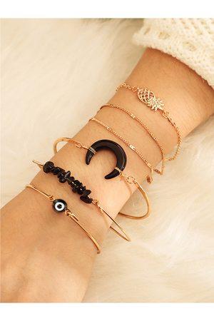 YOINS Gold Alloy Six-piece Bracelet Set