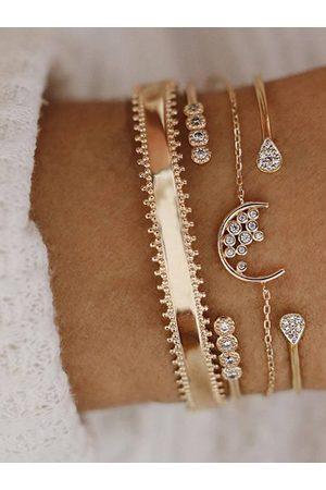 YOINS Diamond Detail Four-piece Suit Hoop Bracelet