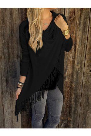 YOINS Drape Sagging Long Sleeves Wrap Knit Top