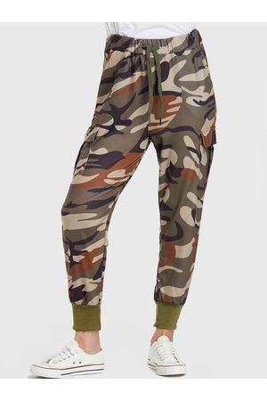 YOINS Self-tie Design Stretch Waistband Pants