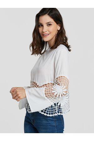 YOINS Hollow Design Long Sleeves Tee