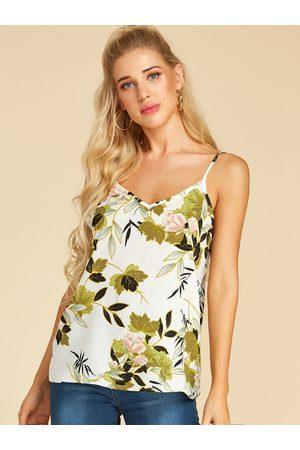 YOINS Random Floral Backless Design V-neck Cami