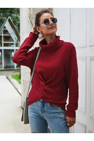 YOINS Twisted Long Sleeves High Neck Jumper