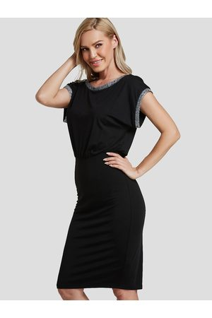 YOINS Slit Design Sequin Bodycon Midi Dress