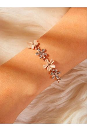 YOINS Small Flower Opal Net Rose Gold Bracelet