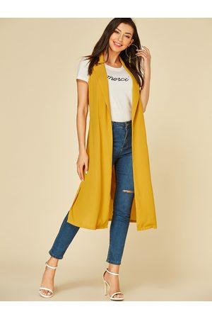 YOINS Belted Design Lapel Collar Sleeveless Waistcoat