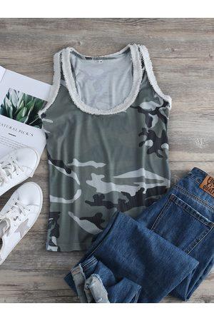 YOINS Camouflage Scoop Neck Tank Top