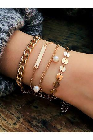 YOINS Mixed Artificial Pearl Four-piece Bracelet Set