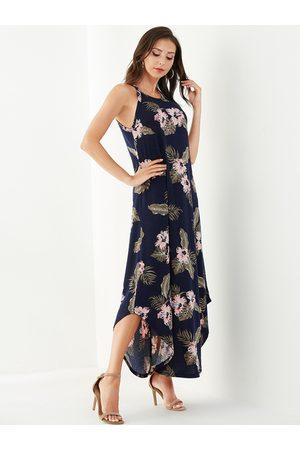 YOINS Random Floral Print Maxi Dress
