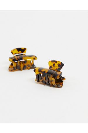 My Accessories London multipack x 2 resin hair claw clips