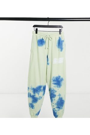COLLUSION Unisex oversized joggers with print in tie dye