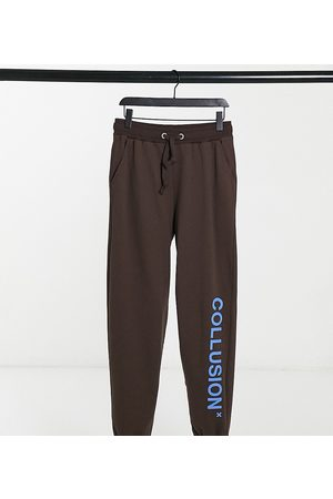 COLLUSION Unisex joggers with logo print in