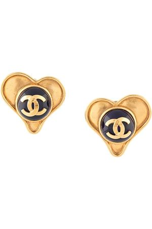 CHANEL 1995 CC heart earrings