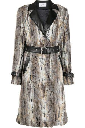 COPERNI Trompe-l'oeil belted coat