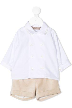 LA STUPENDERIA Velour shorts shirt set