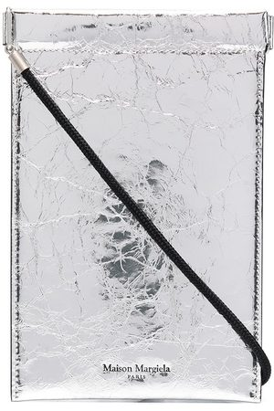 Maison Margiela Metallic-finish phone pouch