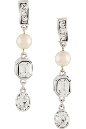 Susan Caplan 1990s embellished drop earrings