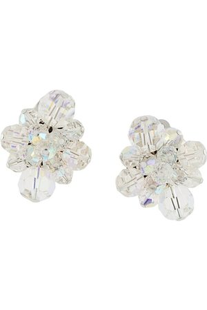 Susan Caplan 1950s embellished cluster clip-on earrings