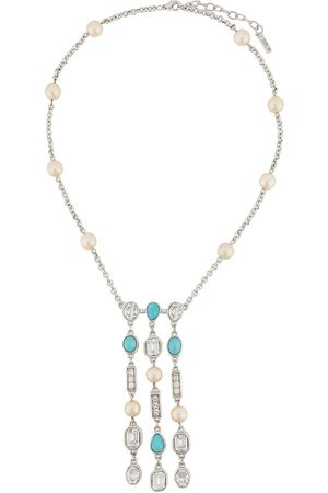 Susan Caplan 1990s embellished pendant necklace