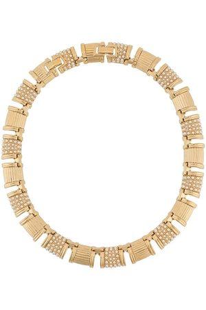 Susan Caplan 1990s embellished choker necklace