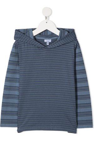 KNOT Chikaku Buru striped hooded sweatshirt