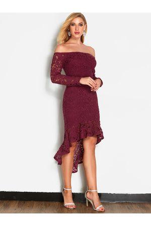 YOINS Lace Off Shoulder Fashion Party Dress