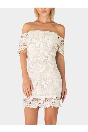 YOINS Lace Off The Shoulder Bodycon Mini Dress