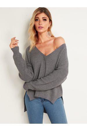 YOINS Slit Winter Fashion Women Sweaters