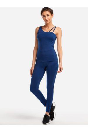 YOINS One Shoulder Sport Bodycon Fashion 2-piece Suits