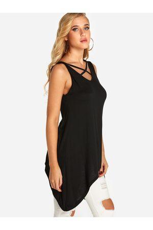 YOINS Women Camisoles - Lace-up Design V-neck Long Vest