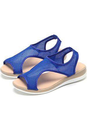 YOINS Mesh Hollow Design Flat Sandals