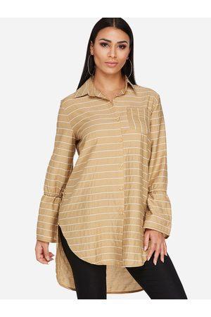 YOINS Stripe Bell Sleeves New Long Shirt