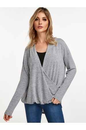 YOINS Crossed Front V-neck Long Sleeves T-shirt