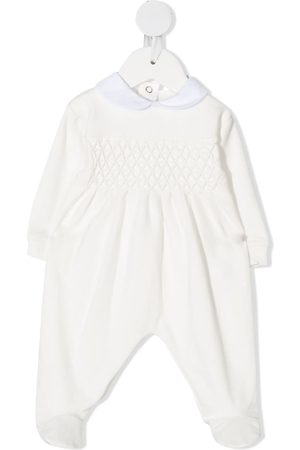 SIOLA Honeycomb-stitch embellished one-piece