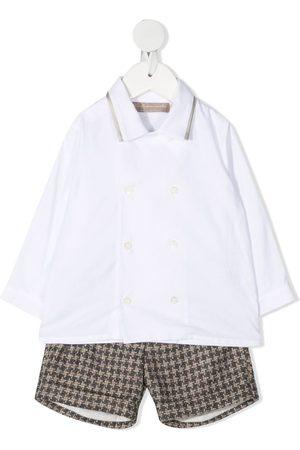 LA STUPENDERIA Double-breasted shirt set