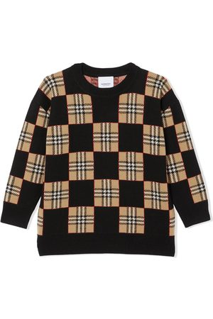 Burberry Icon Stripe chequer wool sweater