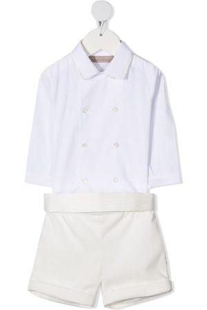 LA STUPENDERIA Tailored shirt short set
