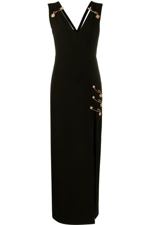 VERSACE Safety Pin floor-length dress