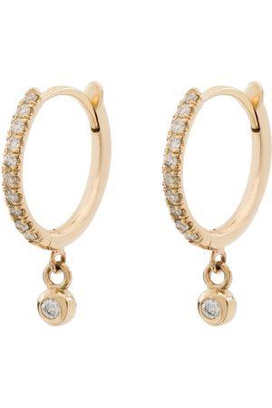 Zoe Chicco 14kt yellow diamond drop hoops