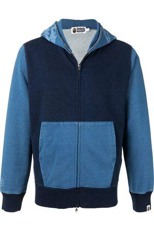 A BATHING APE® Panelled zip-up hoodie