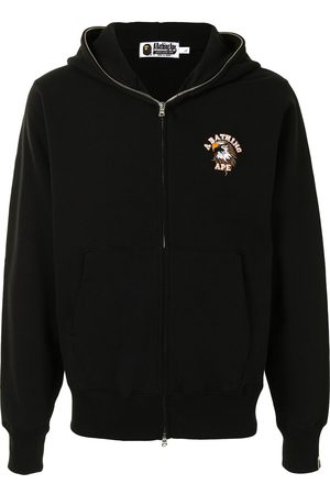 A BATHING APE® Eagle motif zip-up hoodie