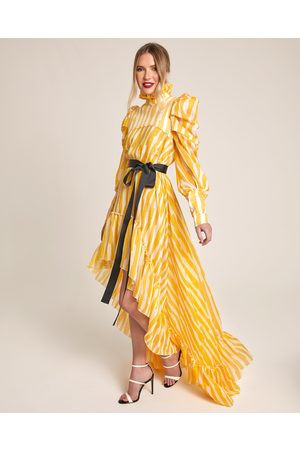 Siobhan Molloy London Florentia Asymmetric Bow Embellished Dress