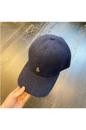 LEATHERSMITH OF LONDON Navy Wool Baseball Cap