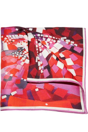 Ella Impressions BERRY- TWILL SILK POCKET SQUARE