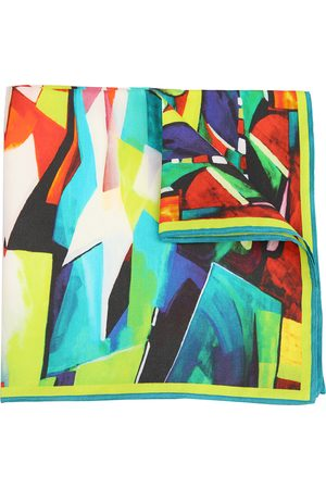Ella Impressions TEAl-TWILL SILK POCKET SQUARE