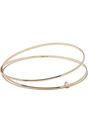 Mizuki Women Bracelets - 14kt yellow Sea of Beauty diamond double bangle