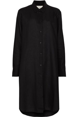 ASCENO Organic linen shirt dress