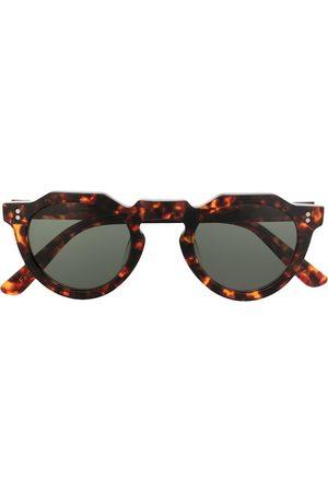 LESCA Pica flat-top round-frame sunglasses