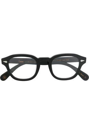 LESCA Posh chunky round-frame glasses