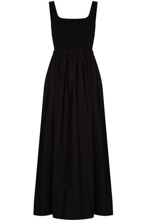 MATTEAU Gathered-waist sleeveless maxi dress